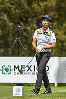 Kevin Na (USA) watches his tee shot on 8 during round 2 of the World Golf Championships, Mexico, Club De Golf Chapultepec, Mexico City, Mexico. 2/22/2019.<br /> Picture: Golffile | Ken Murray<br /> <br /> <br /> All photo usage must carry mandatory copyright credit (© Golffile | Ken Murray)