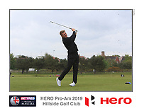 Michael Farr (AM) playing with Marcus Kinhult (SWE) on the 10th tee during the Pro-Am of the Betfred British Masters 2019 at Hillside Golf Club, Southport, Lancashire, England. 08/05/19<br /> <br /> Picture: Thos Caffrey / Golffile<br /> <br /> All photos usage must carry mandatory copyright credit (© Golffile | Thos Caffrey)