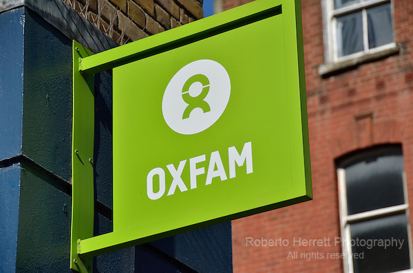 Oxfam charity shop sign
