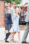Princess Leonor, Princess Sofia and Queen Letizia after the First Communion of princess Sofia at Asuncion de Nuestra Senora Church in Madrid, May 17, 2017. Spain.<br /> (ALTERPHOTOS/BorjaB.Hojas)