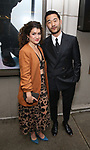 Sarah Stiles and guest attends the Broadway Opening Night of  'Saint Joan' at the Samuel J. Friedman Theatre on April 25, 2018 in New York City.