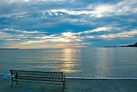 Lake Erie Sunrise Bench