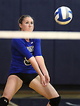 Courtny Carroll passes for the Marymount University Saints during first round action at the 6th annual Worthington Classic at Gallaudet University in Washington, D.C., on Friday, Sept. 28, 2012. .Photo by Cathleen Allison
