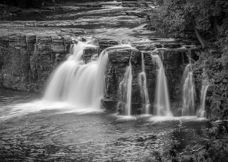 Manido Falls located in the Porcupine Mountains State Park in the UP of Michigan