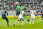 04.11.2018, Stadion im Borussia-Park, Moenchengladbach, GER, 1. FBL, Borussia Moenchengladbach vs. Fortuna Duesseldorf, DFL regulations prohibit any use of photographs as image sequences and/or quasi-video<br /> <br /> im Bild Yann Sommer (#1, Borussia M?nchengladbach / Moenchengladbach) klaert den Ball vor Alfredo Morales (#6, Fortuna D&uuml;sseldorf / Duesseldorf) <br /> <br /> Foto &copy; nordphoto/Mauelshagen