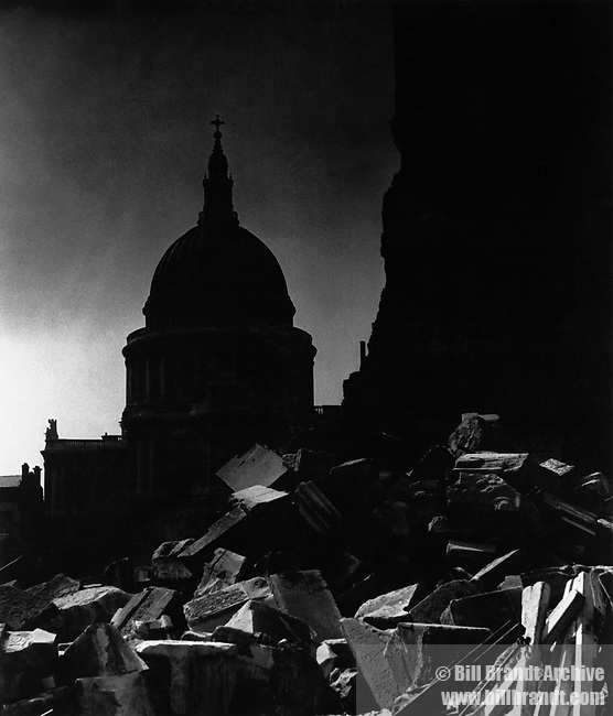 St Paul's in the moonlight
