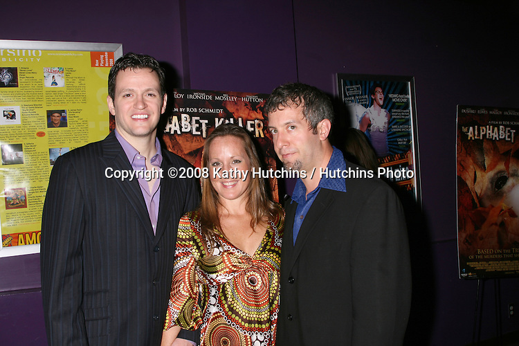 Tom Malloy, Aimee Schoff, and Isen Robbins arriving at the Alphabet Killer Screening at the Laemmle's Monica 4 Theaters in Santa Monica, CA.November 14, 2008.©2008 Kathy Hutchins / Hutchins Photo....