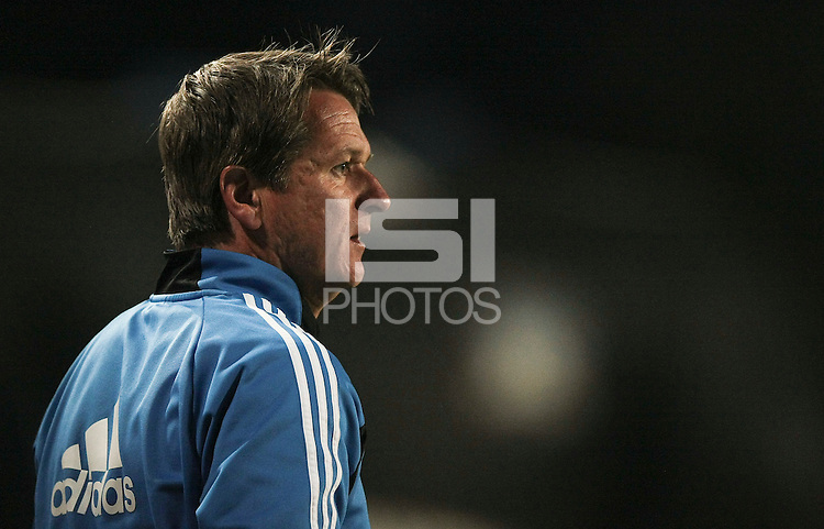 Frank Yallop reacts to the call and is rejected from the game. The San Jose Earthquakes tied the Philadelphia Union 0-0 at Buck Shaw Stadium in Santa Clara, California on July 9th, 2011.