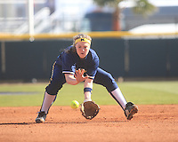 University of Michigan Softball team vs. Oklahoma at the LSU Tiger Invitational. February 19, 2010