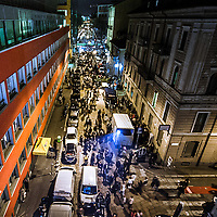 FuoriSalone2010 Zona Tortona: vista aerea di via Tortona durante gli eventi del Salone del Mobile<br /> <br /> Aerial view of Tortona street during the events of International furniture show