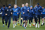 Lee Wallace leads his young Rangers team around