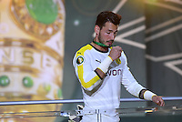 FUSSBALL  DFB POKAL FINALE  SAISON 2015/2016 in Berlin FC Bayern Muenchen - Borussia Dortmund         21.05.2016 Torwart Roman Buerki (Borussia Dortmund) enttaeuscht auf dem Podium