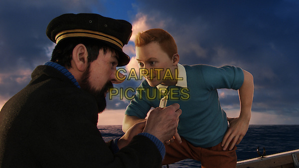Captain Haddock (Andy Serkis) and Tintin (Jamie Bell) .in The Adventures of Tintin: The Secret of the Unicorn.*Filmstill - Editorial Use Only*.CAP/FB.Supplied by Capital Pictures.