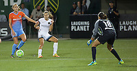 Portland, OR - Wednesday Sept. 07, 2016: Cami Privett, Tobin Heath, Lydia Williams during a regular season National Women's Soccer League (NWSL) match between the Portland Thorns FC and the Houston Dash at Providence Park.