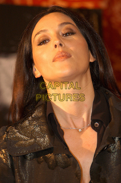 "MONICA BELLUCCI.Photocall for a Frederic Schoendoerffer film ""Agents Secrets"" aka ""Secret Agents"" at Hotel St Regis, Rome, Italy, October 29th 2004.                            .portrait headshot.Ref: LC.www.capitalpictures.com.sales@capitalpictures.com.©Luca Cavallari/Capital Pictures ."