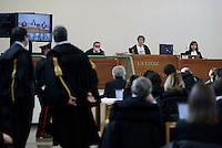 Roma,9 Dicembre 2015<br /> Aula bunker di Rebibbia<br /> La Presidente Rosanna Ianniello.<br /> Nuova udienza del processo Mafia Capitale, in Aula la discussione sulle perizie riguardo le intercettazioni.