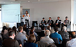 """Belgium, Brussels - April 16, 2015 -- European Dialogue 2015: 'Prosperity in Europe (only if we stop the growing inequality)', jointly held by Hans Böckler Foundation and ETUI (European Trade Union Institute) at 'The Hotel'; here, Workshop 2: Strong worker participation – competitive, sustainable companies / Worker participation as a component of sustainable corporate governance in Europe<br /> Chaired by: Dr. Norbert Kluge (ri), Head of the Co-determination Department, Hans Böckler Foundation; Anne-Marie Kortas (le), research fellow of the """"Inequality and Social Policy"""" unit, Berlin Social Science Center (WZB); Lucia Peveri (2.le), Chair of the UILCA Deutsche Bank Italy, UILCA International Area and UNI Europa expert of the Unicredit European Works Council; Dr. Roby Nathanson (ce), Director of MACRO – Center for Political Economics (Tel Aviv); Hermann Soggeberg (2.ri), Chairman of the Unilever European Works Council -- Photo © HorstWagner.eu"""