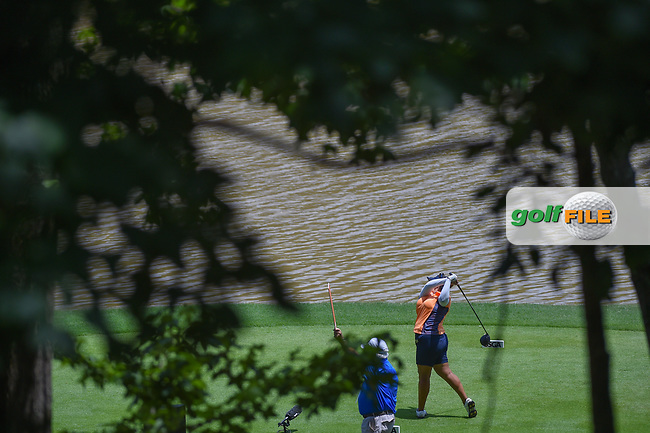 Lizette Salas (USA) watches her tee shot on 10 during round 3 of the U.S. Women's Open Championship, Shoal Creek Country Club, at Birmingham, Alabama, USA. 6/2/2018.<br /> Picture: Golffile | Ken Murray<br /> <br /> All photo usage must carry mandatory copyright credit (© Golffile | Ken Murray)