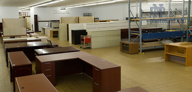Nov. 24, 2014; Surplus warehouse. (Photo by Barbara Johnston/University of Notre Dame)