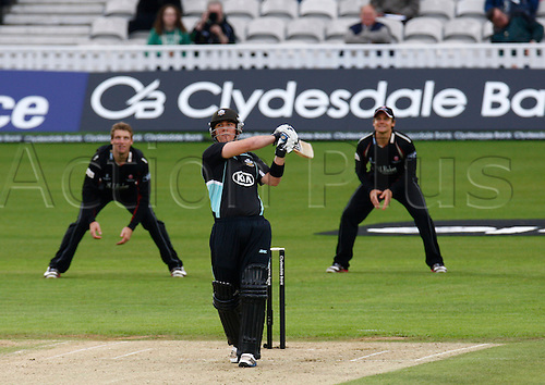 04.05.2012. Brit Oval, London, England.  Rory Hamilton-Brown of Surrey County Cricket during the Clydesdale Bank Pro40 match between Surrey and Somerset  at The Brit Oval on May 04, 2012 in London, England.........................