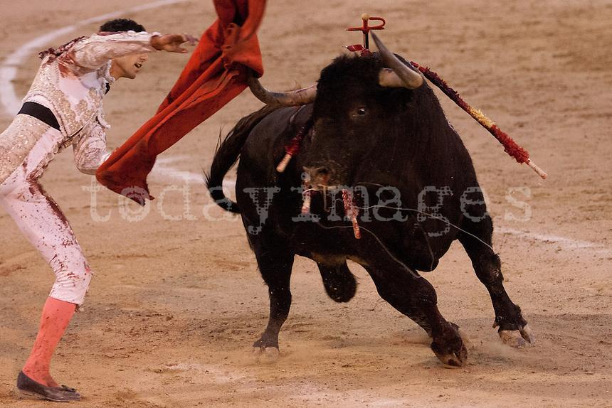 Miguel ?Ångel Delgado at the Bullfight Virgen de la Paloma festivity