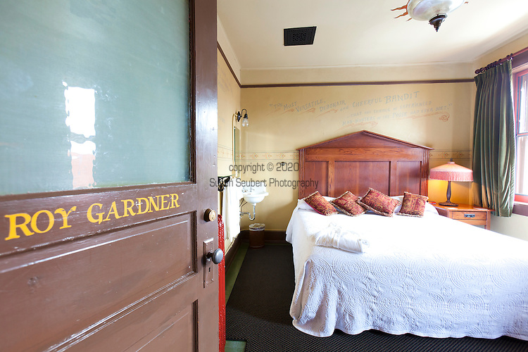 The Roy Gardner Room at McMenamin's Olympic Club Hotel in downtown Centralia, Washington State.