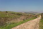 Israel, Menashe Heights. The old road from Joara to Yokneam