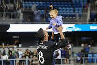 San Jose, CA - Saturday August 05, 2017: Chris Wondolowski after a Major League Soccer (MLS) match between the San Jose Earthquakes and the Columbus Crew at Avaya Stadium.