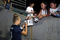 Cary, North Carolina  - Saturday June 17, 2017: Makenzy Doniak signs autographs after a regular season National Women's Soccer League (NWSL) match between the North Carolina Courage and the Boston Breakers at Sahlen's Stadium at WakeMed Soccer Park. The Courage won the game 3-1.