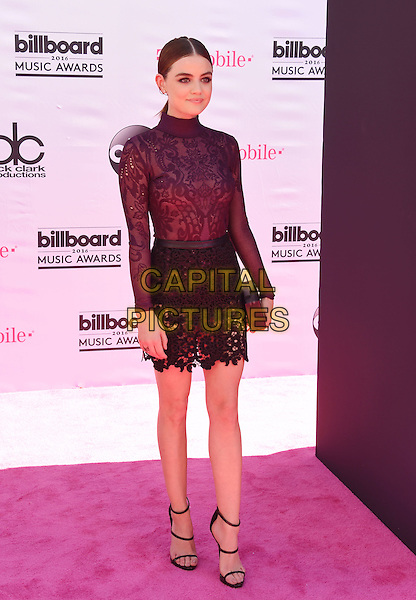 LAS VEGAS, NV - MAY 22: Actress Lucy Hale attends the 2016 Billboard Music Awards at T-Mobile Arena on May 22, 2016 in Las Vegas, Nevada.<br /> CAP/ROT/TM<br /> &copy;TM/ROT/Capital Pictures
