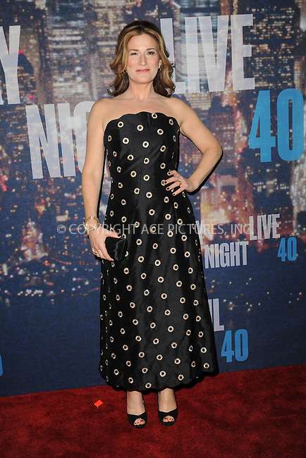 WWW.ACEPIXS.COM<br /> February 15, 2015 New York City<br /> <br /> Ana Gasteyer walking the red carpet at the SNL 40th Anniversary Special at 30 Rockefeller Plaza on February 15, 2015 in New York City.<br /> <br /> Please byline: Kristin Callahan/AcePictures<br /> <br /> ACEPIXS.COM<br /> <br /> Tel: (646) 769 0430<br /> e-mail: info@acepixs.com<br /> web: http://www.acepixs.com