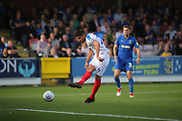 Gareth Evans of Portsmouth takes a shot at the AFC Wimbledon goal during AFC Wimbledon vs Portsmouth, Sky Bet EFL League 1 Football at the Cherry Red Records Stadium on 13th October 2018