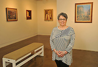 NWA Democrat-Gazette/MICHAEL WOODS &bull; @NWAMICHAELW<br /> Pat Moore, a volunteer at the Fort Smith Regional Art Museum Thursday, June 30, 2016 in Fort Smith