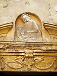 Frieze, Church of the Madonna dei Lumi, San Gimignano, Siena-Tuscano, Italy