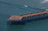 aerial photograph of  of the Pismo Beach Pier, San Luis Obispo County, California