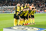 Borussia Dortmund squad pose for team photo during the Europe Champions League 2017-18 match between Real Madrid and Borussia Dortmund at Santiago Bernabeu Stadium on 06 December 2017 in Madrid Spain. Photo by Diego Gonzalez / Power Sport Images
