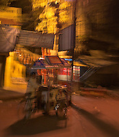 Abstract at night in the streets of Varanasi