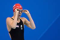PICTURE BY ALEX BROADWAY /SWPIX.COM - 2012 London Paralympic Games - Day Three - Swimming - Aquatic Centre, Olympic Park, London, England - 01/09/12 - Rhiannon Henry of Great Britain competes in the Women's 50m Freestyle S13 Heats.
