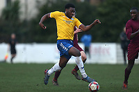 Temi Babalola of Woodford Town during Leyton Athletic vs Woodford Town, Essex Senior League Football at Wadham Lodge Sports Ground on 1st December 2018