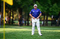 Lee Westwood (ENG) looks over his chip shot on 8 during round 1 of the World Golf Championships, Mexico, Club De Golf Chapultepec, Mexico City, Mexico. 3/2/2017.<br />