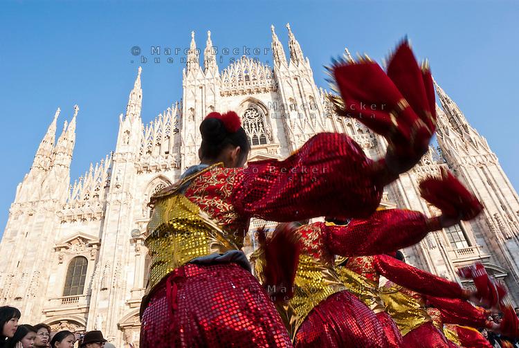 Milano, festeggiamenti per il Capodanno cinese --- Milan, Chinese New Year celebrations