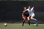 04 September 2016: Duke's Taylor Racioppi (7) and Minnesota's Molly Fiedler (6). The Duke University Blue Devils hosted the University of Minnesota Golden Gophers at Koskinen Stadium in Durham, North Carolina in a 2016 NCAA Division I Women's Soccer match. Duke won the game 1-0.