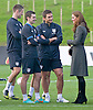"CATHERINE, DUCHESS OF CAMBRIDGE.chats to members of the English Footbal Squad including Frank Lampard..Katew and Prince William attended the opening of St. George's Park, the Football Association's National Football Centre, Burton-Upon-Trent..Their Royal Highnesses were given a tour of the main facilities on the 330-acre site and also met England Manager Roy Hodgson and his squad as they trained at St. George's Park for the first time_09/10/2012.Mandatory credit photo: ©Dias/NEWSPIX INTERNATIONAL..(Failure to credit will incur a surcharge of 100% of reproduction fees)..                **ALL FEES PAYABLE TO: ""NEWSPIX INTERNATIONAL""**..IMMEDIATE CONFIRMATION OF USAGE REQUIRED:.DiasImages, 31a Chinnery Hill, Bishop's Stortford, ENGLAND CM23 3PS.Tel:+441279 324672  ; Fax: +441279656877.Mobile:  07775681153.e-mail: info@newspixinternational.co.uk"