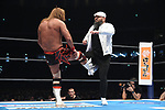 Tetsuya Naito ad Gedo during the IWGP Intercontinental Championship Match New Japan Pro-Wrestling Wrestle Kingdom 14 at Tokyo Dome on January 4, 2020 in Tokyo, Japan. (Photo by New Japan Pro-Wrestling/AFLO)