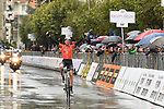 Brandon McNulty (USA) Rally UHC Cycling wins solo Stage 3 of Il Giro di Sicilia running 186km from Caltanissetta to Ragusa, Italy. 5th April 2019.<br /> Picture: LaPresse/Fabio Ferrari | Cyclefile<br /> <br /> <br /> All photos usage must carry mandatory copyright credit (© Cyclefile | LaPresse/Fabio Ferrari)