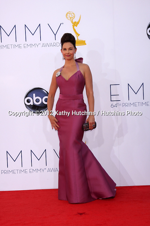 LOS ANGELES - SEP 23:  Ashley Judd arrives at the 2012 Emmy Awards at Nokia Theater on September 23, 2012 in Los Angeles, CA