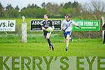 Darren Wallace (Ardfert) in action with Niall O'Driscoll (St Mary's) in the County Intermediate Football Championship round 1 at Ardfert on Saturdayn evening.