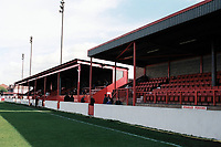 The main stand at Dagenham & Redbridge FC Football Ground, Victoria Road, Dagenham, Essex, pictured on 31st August 1998