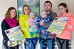 Come along and support a 5k and 10k walk and run at the Top of Coom bar in Kilgarvan on Sunday, March 19th to raise funds for the Neonatal Unit at CUMH. <br /> l-r Eileen Creedon, Abbey and Seamus O'Leary and their twins, Abimay and Gerard, and their daughter Monica.