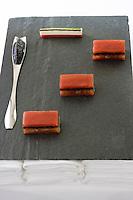 Europe/France/Aquitaine/33/Gironde/Pauillac: Tomates pressées au Caviar d'Aquitaine recette de Thierry Marx Chef du château Cordeillan-Bages